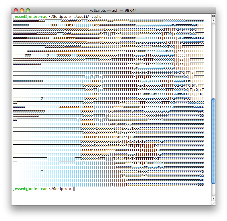 ASCII JORIE is made of ASCII